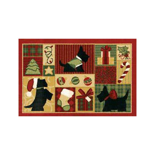 Shaw Rugs Home for the Holidays Scotties Novelty Rug