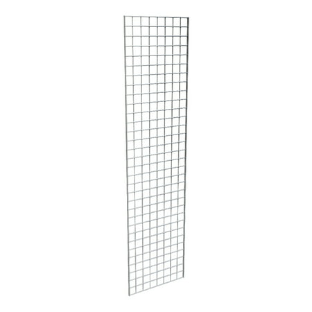 Grid Panel for Retail Display – Perfect Metal Econoco Grid for Any Retail Display, 2' Width x 8' Height, 3 Grids Per Carton (Chrome)