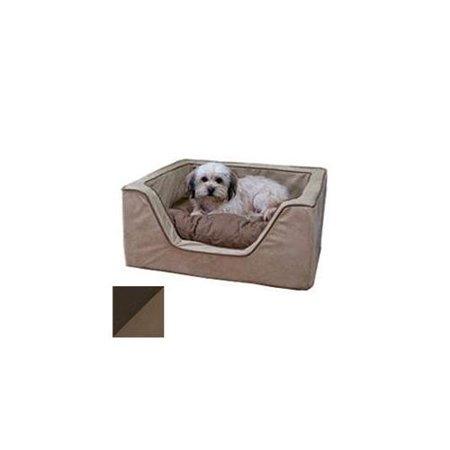 Luxury Square Pet Bed - Medium/Hot Fudge/Cafe