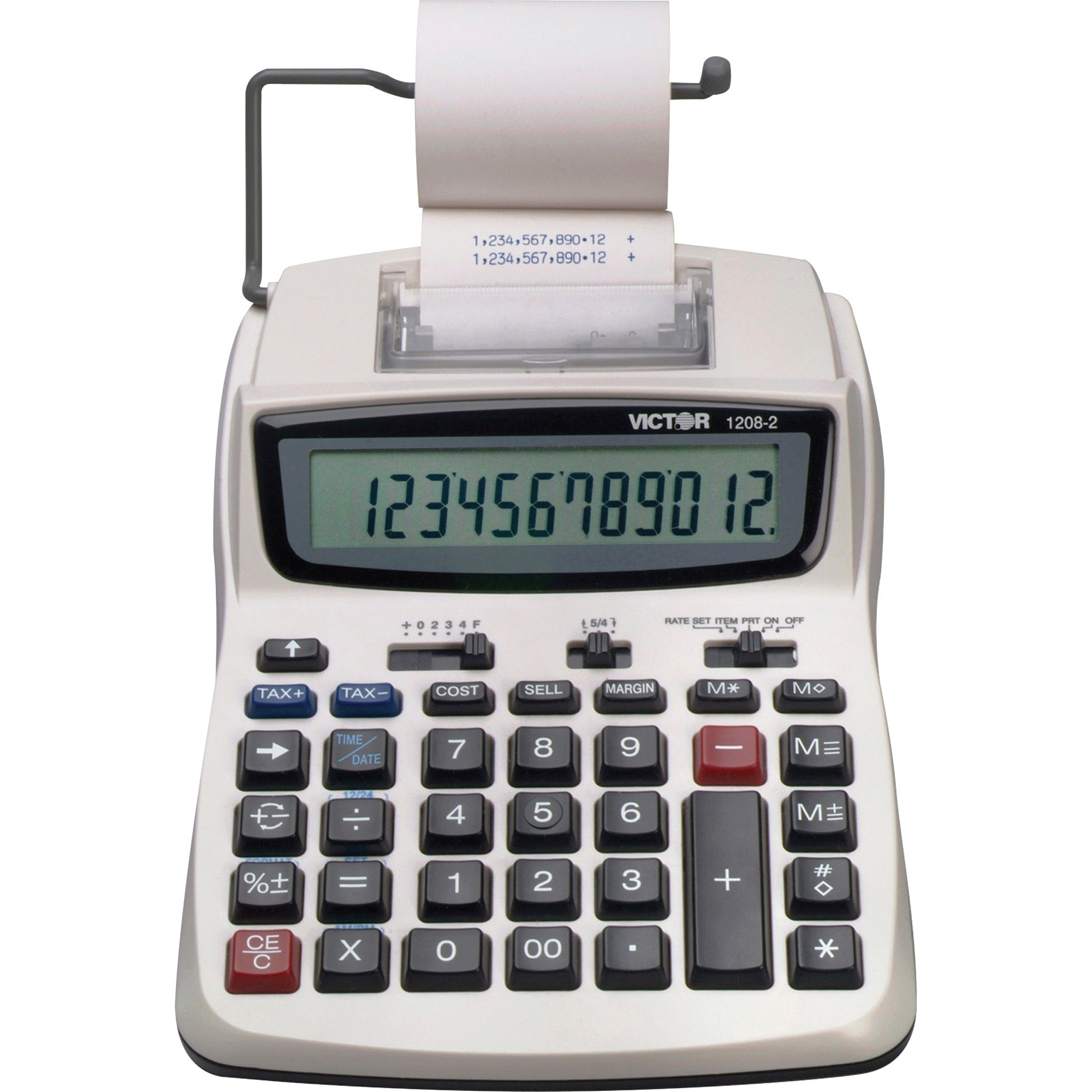 Victor, VCT12082, 12082 Printing Calculator, 1 Each, White
