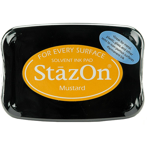 StazOn Solvent Ink Pad-Mustard