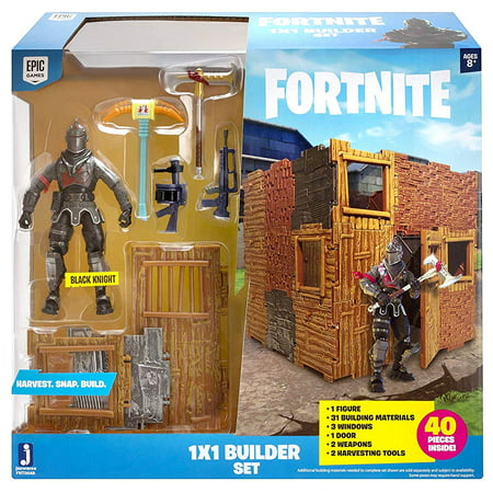 Fortnite 1X1 Builder Action Figure Playset with Black Knight Figure Included