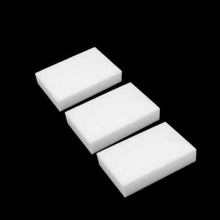 3Pcs White Rectangle Shaped Nano Multi Use Washing Cleaning Sponge For Car Body