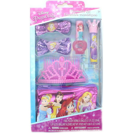 Disney Princess Cosmetic and Hair Accessory Set with a Crown - A Princess Crown