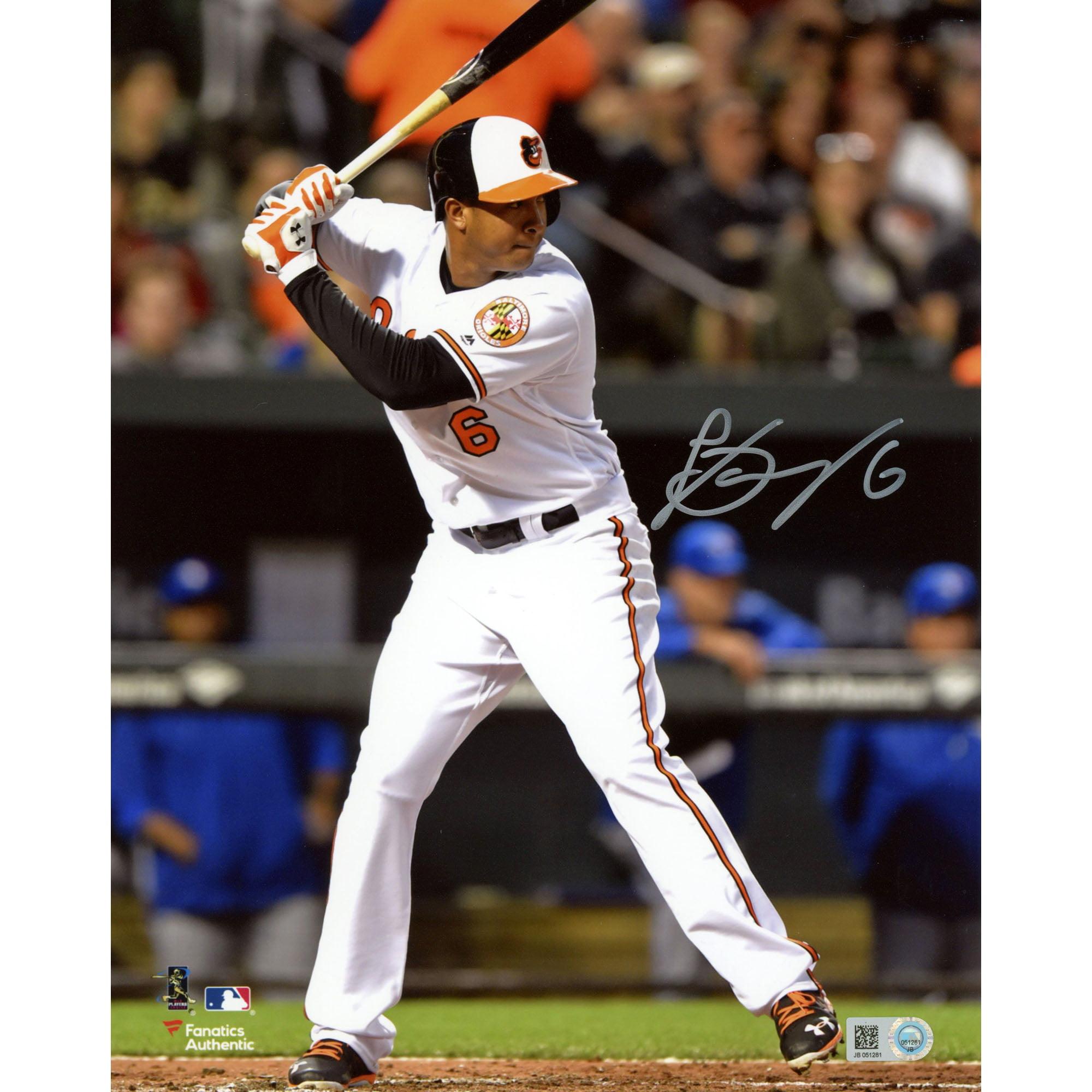 "Jonathan Schoop Baltimore Orioles Fanatics Authentic Autographed 8"" x 10"" Vertical Hitting Photograph - No Size"