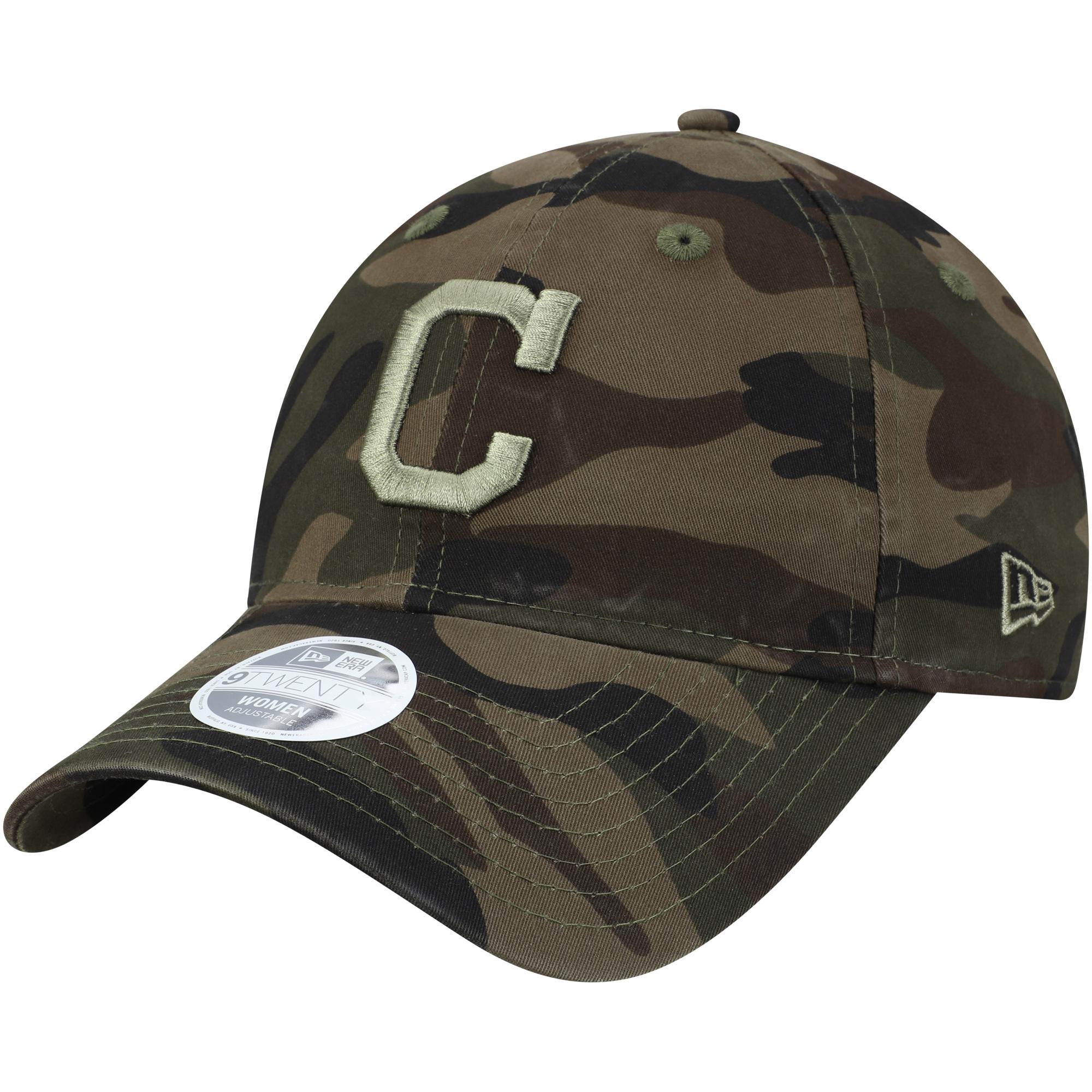 Cleveland Indians New Era Women's Tonal Camo Core Classic 9TWENTY Adjustable Hat - Camo - OSFA