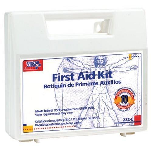 "First Aid Only 10-person First Aid Kit - 63 X Piece[s] For 10 X Individual[s] - 8.4"" X 9"" X 2.5"" - Plastic Case (222u)"