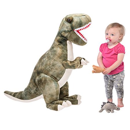 "Prextex 24"" Giant Plush Dinosaur T-Rex Jumbo Cuddly Soft Dinosaur Toys for Kids](Dinosaur Plush Toy)"