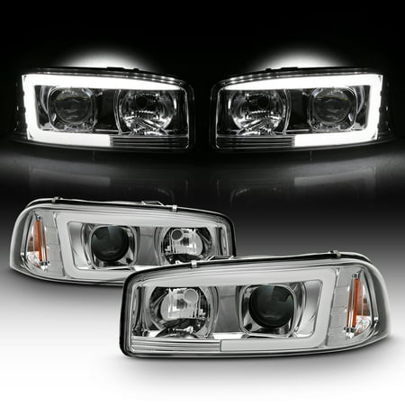 For 99-06 GMC Sierra 1500 2500 HD 3500 | Yukon XL Tube LED Projector Headlights