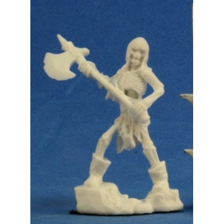 Skeleton Figure (Reaper Miniatures Skeleton Guardian Axeman (3) #77241 Bones D&D RPG Mini)