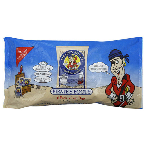 Pirate's Booty Aged White Cheddar Puffs, 6ct (Pack of 12)