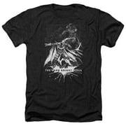 Dark Knight Rises Rising Sketch Mens Heather Shirt