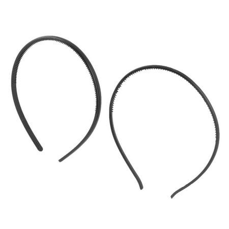 Women Plastic Makeup Tool Double Teeth Hair Band Hair Hoop Black 2 in
