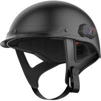 Sena Cavalry Matte Black Bluetooth Half Helmet Matte Black X-Small