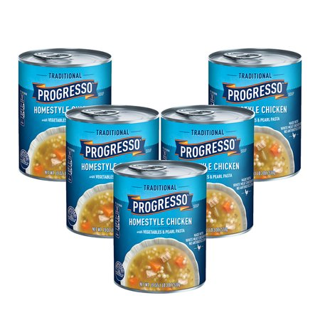 (5 Pack) Progresso Soup, Traditional, Homestyle Chicken Soup, 19 oz