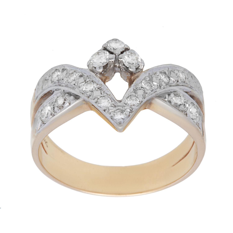 Pre-owned 14k Yellow Gold 1/2ct TDW Diamond Chevron Estate Ring (H-I, SI1-SI2)