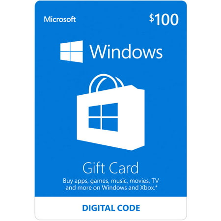 Windows Store Gift Card Digital (email delivery)