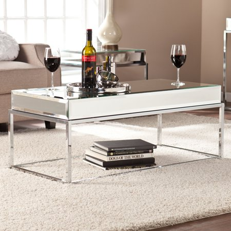 Southern Enterprises Dana Mirrored Cocktail Table ()