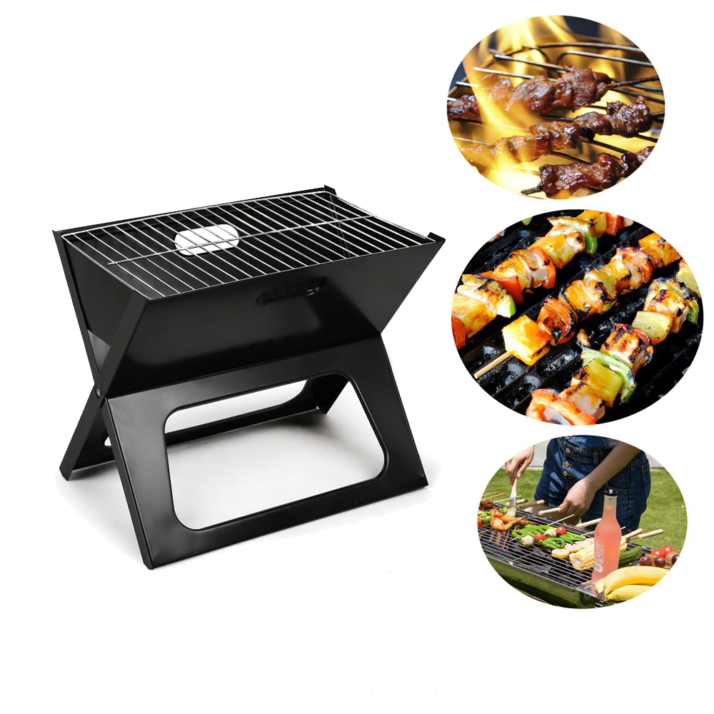 Zimtown Mini Folding BBQ Grill Charcoal Grill Portable Outdoor Barbecue Table Charcoal Smoker Camping Garden Picnic