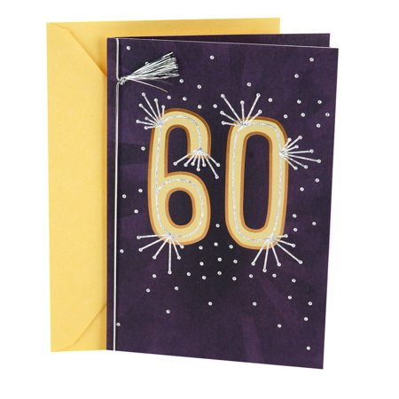 Hallmark 60th Birthday Greeting Card Rays With Tassel