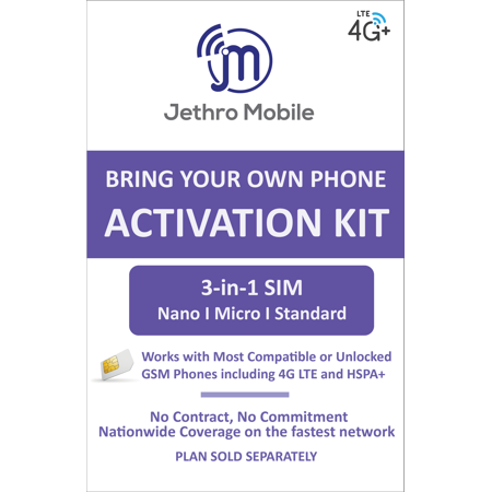 Jethro Mobile Bring Your Own Phone SIM Kit - T-Mobile GSM