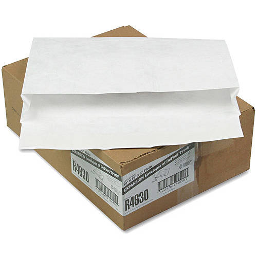 Quality Park Tyvek Booklet Expansion Mailer, White, Carton of 100