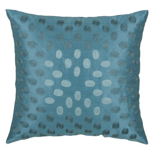 Rizzy Home Embroidered Ombre Circles Decorative Throw Pillow