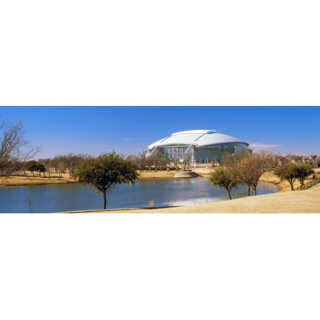 Nfl Dallas Cowboys Texas Stadium (Dallas Cowboy Stadium at the waterfront Dallas Texas USA Poster Print)