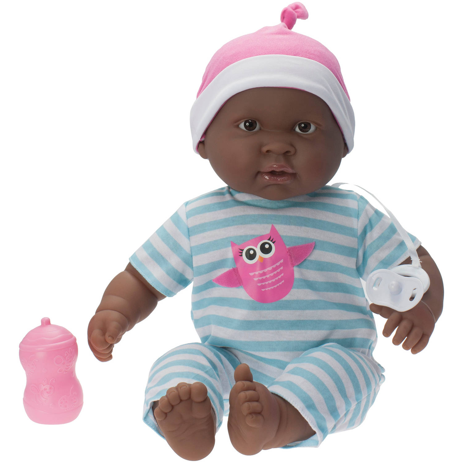 "Lots to Cuddle Babies African American 20"" Soft Body Doll, Aqua"