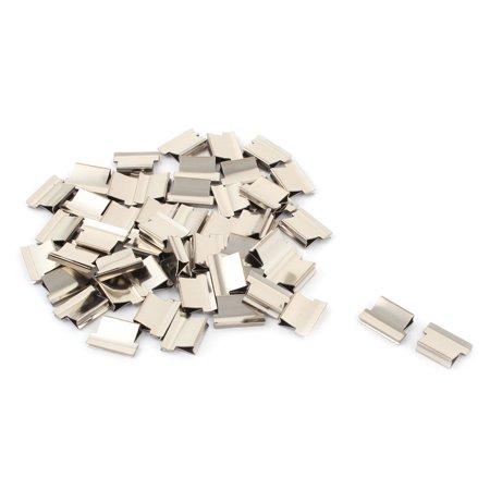 Office Metal Clam Clip Stapler Dispenser Paper Sheet Fastener Silver Tone 52 Pcs - image 1 of 1