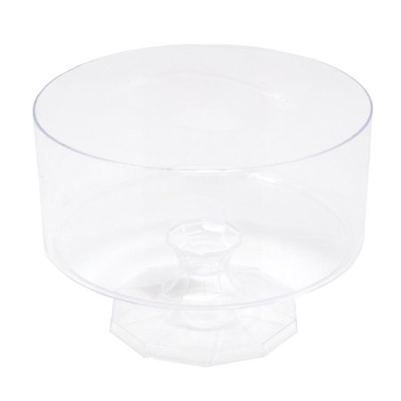Plastic Trifle Pedestal Bowl, Clear, 4-1/4-Inch](Large Plastic Trifle Bowl)
