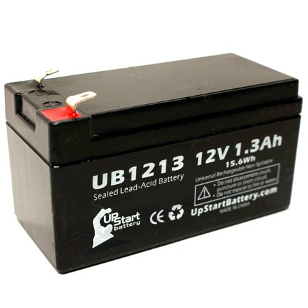 Compatible R&D 5276 Battery - Replacement UB1213 Universal Sealed Lead Acid Battery (12V, 1.3Ah, 1300mAh, F1 Terminal, AGM, SLA) - Includes TWO F1 to F2 Terminal Adapters