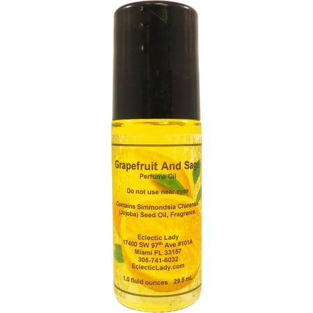 Grapefruit And Sage Perfume Oil, Large Desert Sage Perfume Oil