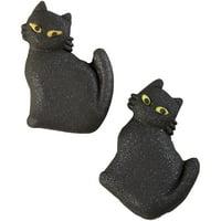 Wilton Halloween Black Cat Icing Decorations, 12-Count