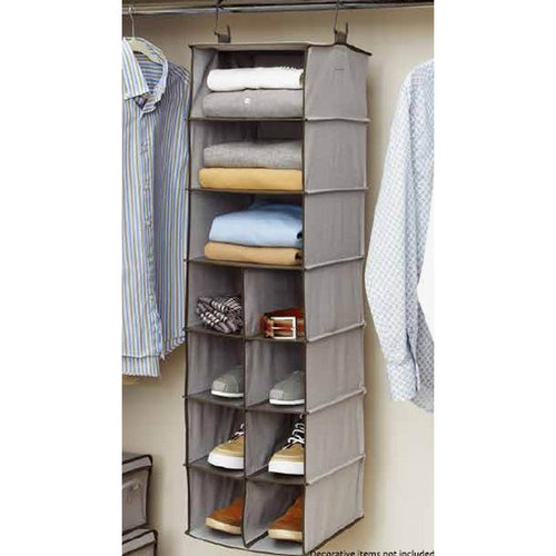 Exceptional InterDesign Chevron Fabric Hanging Closet Storage Organizer, 2 Drawers For  Wire Shelving, Taupe/Natural   Walmart.com