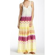 Diane von Furstenberg NEW Yellow Women Size 2 Marny Crinkle Maxi Dress