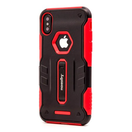 newest a7a53 78ea9 iPhone X Case, Maxessory Storm Dual-Layer Rugged Hybrid Armor Rigid  Ultra-Slim Kickstand Protector Hard Back Grip Fit Tough Rubber Cover Shell  - ...