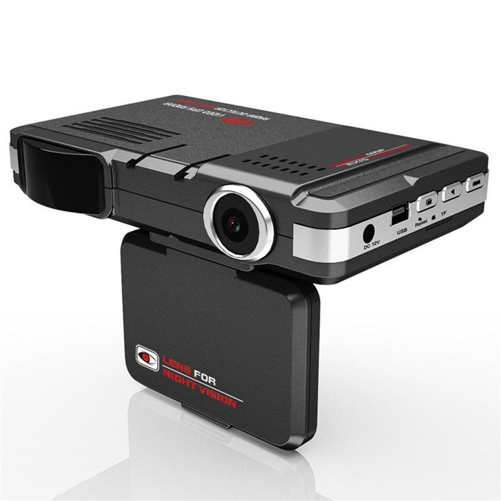 Car DVR Camera 2 in 1 Car DVR Camera Video Recorder Radar Laser Speed Detector Track, black