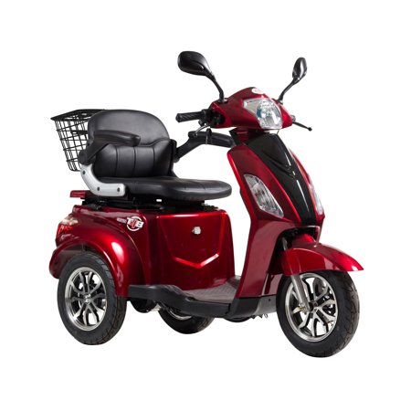 T4B LU-500W Mobility Electric Recreational Outdoors Scooter 48V20AH with Three Speeds, 14/22/32kmph - Red - image 3 de 14