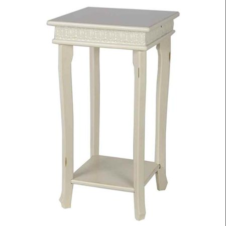 accent table in white finish. Black Bedroom Furniture Sets. Home Design Ideas