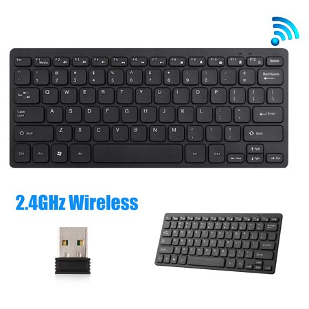 TSV Ultra-Slim 2.4Ghz Wireless Keyboard, Light Weight, Perfect for Outdoor Office, Computer, Laptop, Smart Phone, Tablet (Outdoor Computer)