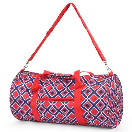 Totes Hiking Duffel (Zodaca Lightweight Classic Style Handbag Duffel Travel Camping Hiking Zipper Shoulder Carry Bag (Size: 18.5