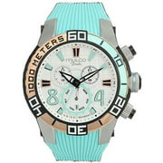Mw174197413 Fondo Chronograph Mint Green Silicone White Dial Watch