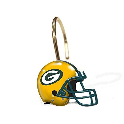 Northwest Green Bay Packers Bathroom Shower Curtain Hooks...