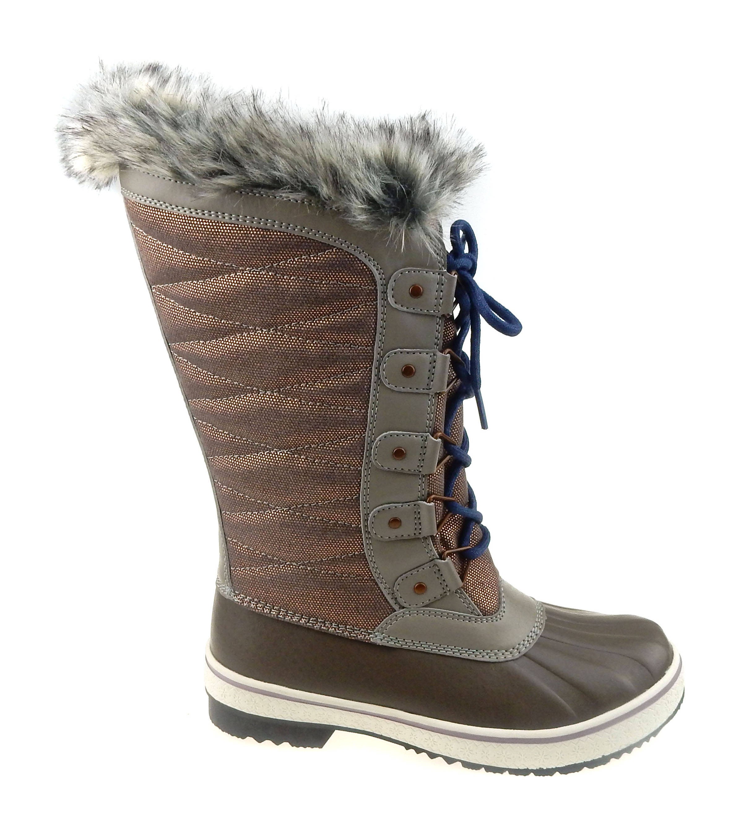 Time and Tru Women's Tall Lace-up Winter Boot