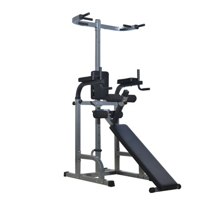 Soozier 80 Full Body Power Tower Home Fitness Station W Sit Up Bench