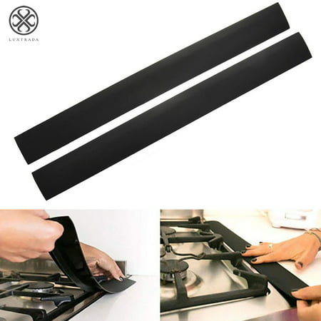 Urethane Gap Guards (Luxtrada Stove Counter Gap Filler-Silicone-Spill-Crumb Guard-Washer-Black (6 Pack))