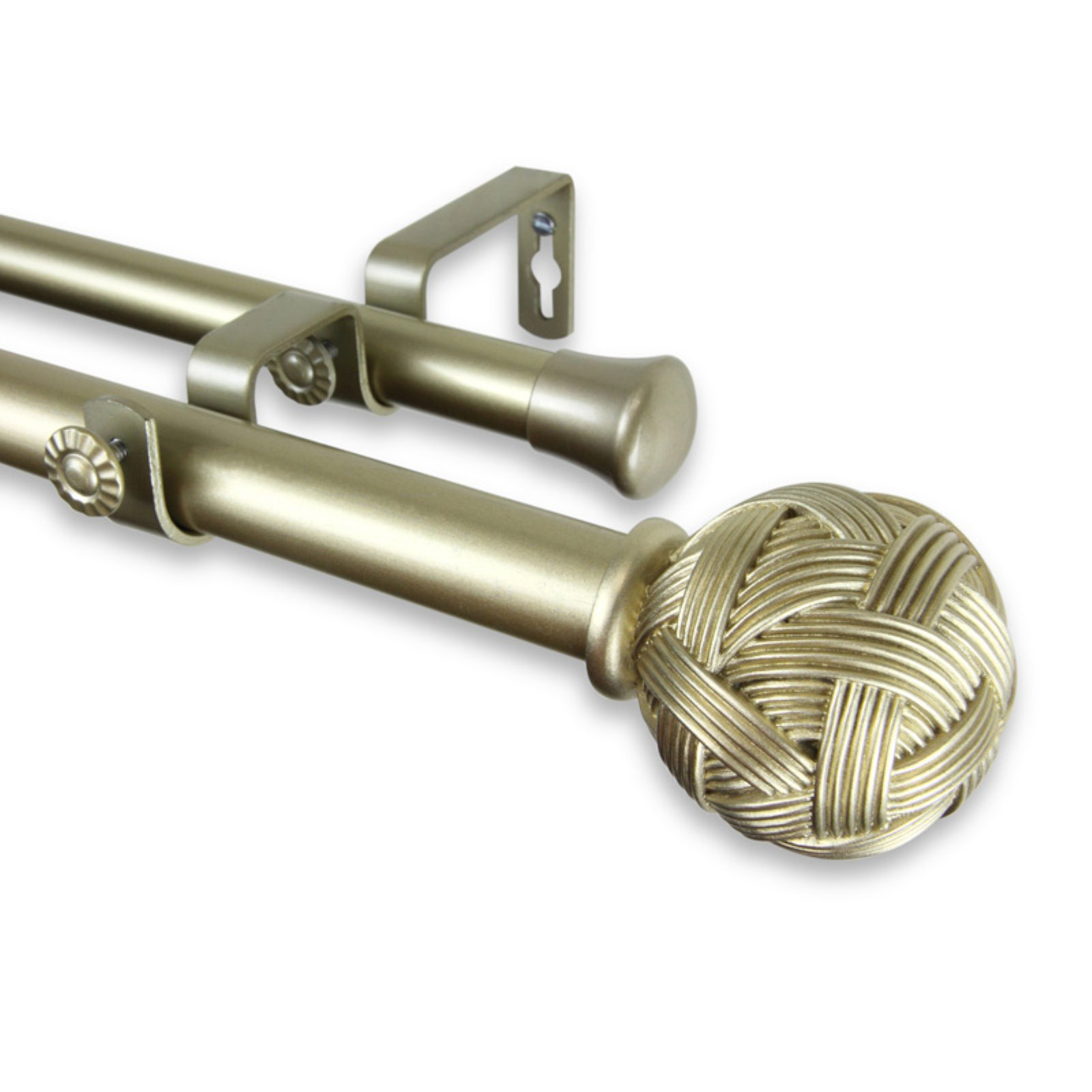 Rod Desyne Twine Double Curtain Rod