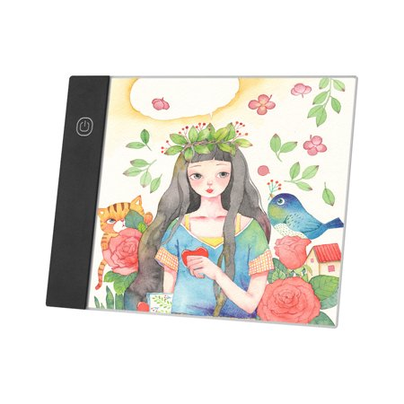 LED A5 Graphic Tablet Light Pad Digital Tablet Copyboard with 3-level Adjustable Brightness for Tracing Drawing Copying Viewing DIY Art Craft Diamond Painting Supplies - image 4 of 7