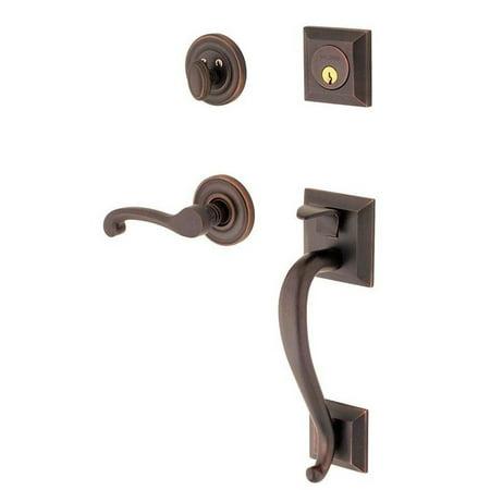 Madison Single Cylinder Venetian Bronze Left-Handed Handleset with Wave Lever